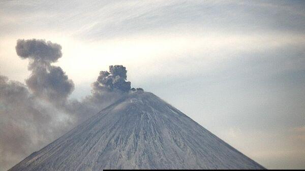 Извержение вулкана Ключевской. 19 марта 2020