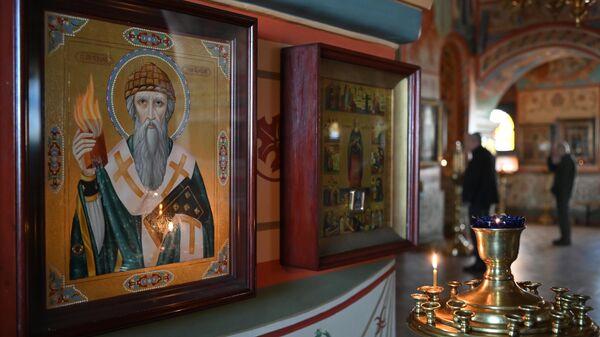 Литургия в храме Казанской иконы Божией Матери в Котельниках