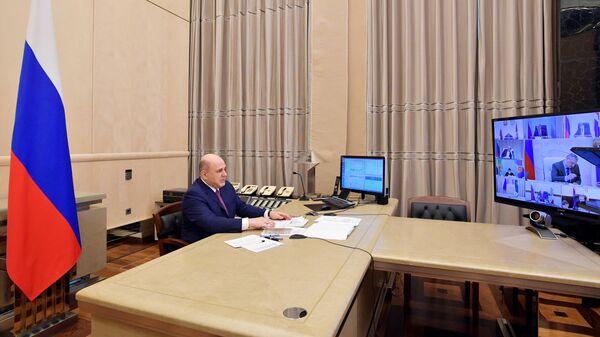 Мишустин проводит по видеосвязи заседание совета по борьбе с COVID-19