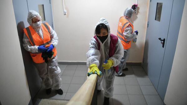 Дезинфекция подъезда жилого дома в Москве