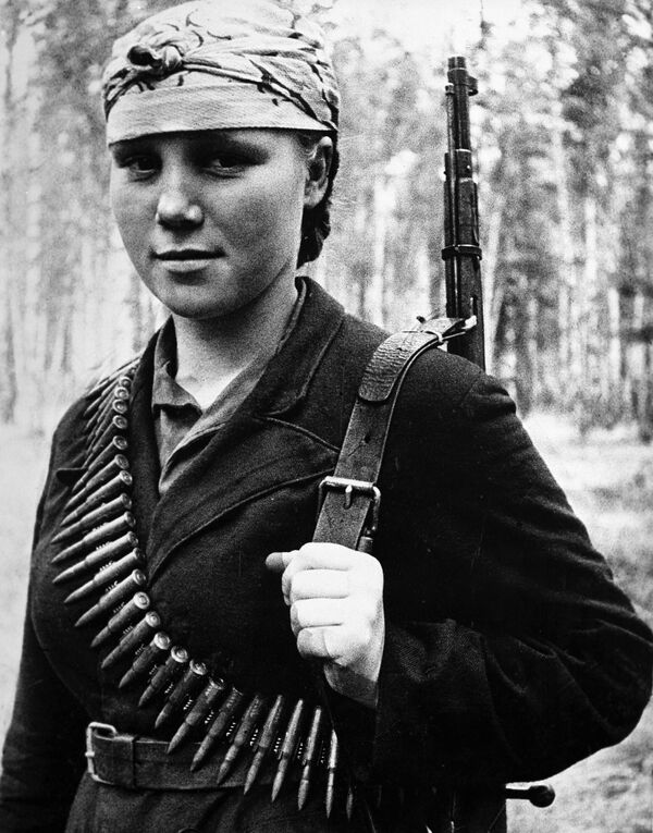 Медсестра партизанского соединения Лида Ферапонт