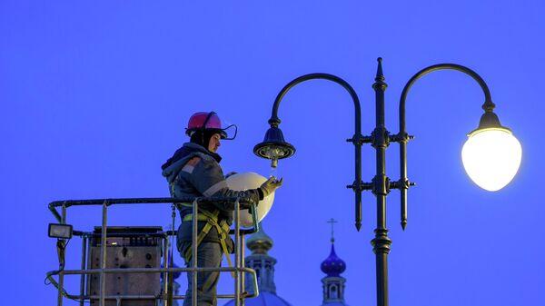 Ремонт фонаря в Москве