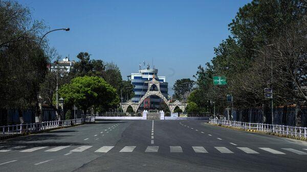Пустые улицы в Катманду
