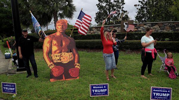Сторонники президента США Дональда Трампа в Лонгвуде