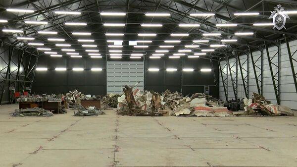 Обломки самолета Ту-154 польского президента Леха Качиньского