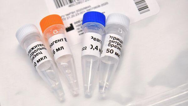 Колбы с реагентами для экспресс-тестов на коронавирус