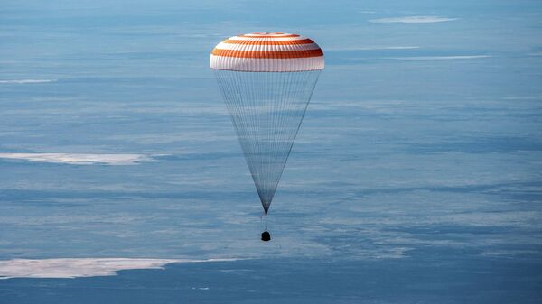 Посадка пилотируемого корабля Союз МС-15