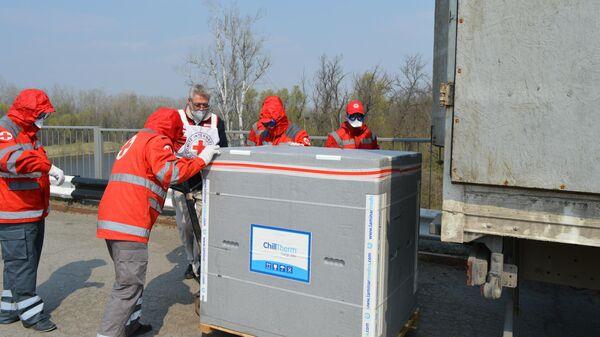 Завоз гуманитарного медицинского груза от МККК в ЛНР