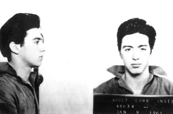 Актер Аль Пачино после ареста. 9 января 1961