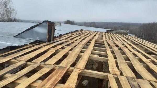 Последствия сильного ветра в Княгининском районе Нижегородской области
