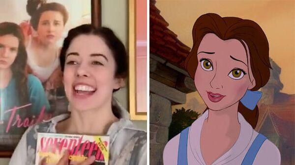 Стоп-кадр видео на тему Beauty and the Beast  и кадр из мультфильма Красавица и чудовище