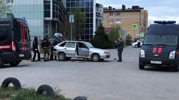 Место взрыва на улице Хорошева в Волгограде