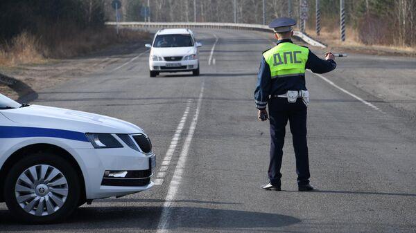 Сотрудник дорожно-патрульной службы ГИБДД