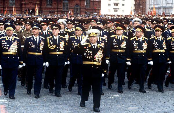 Парад на Красной площади, посвященный 40-летию Победы советского народа в Великой Отечественной войне 1941-1945 годов