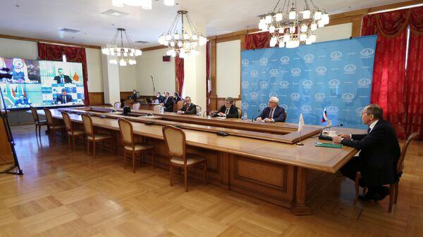 Министр иностранных дел РФ Сергей Лавров принимает участие в онлайн-встрече глав МИД стран БРИКС