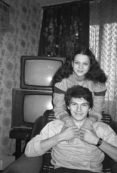 Ринат Дасаев с первой женой Нелли Гаас