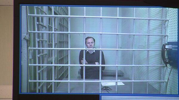 Заместитель начальника следственного департамента МВД генерал Александр Бирюков во время заседания Московского городского суда. 30 апреля 2020