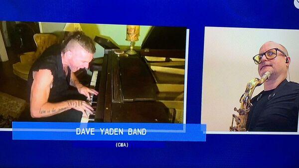 Скриншот выступления Dave Yaden Band из США на благотворительном онлайн-марафоне Doctor Jazz Party