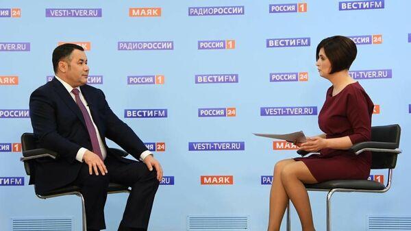 Игорь Руденя  в прямом эфире канала Россия 24 Тверь