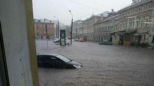 Последствий проливного дождя в Нижнем Новгороде. 8 мая 2020