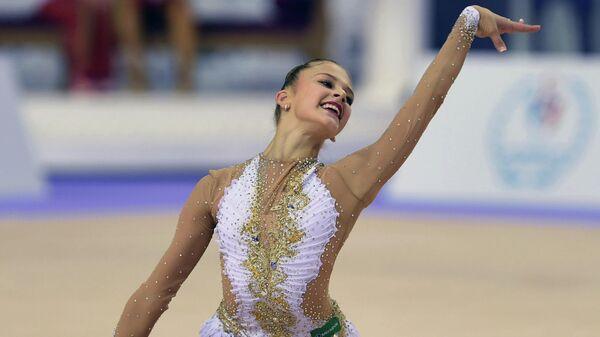 Александра Солдатова во время выступления на чемпионате мира в Измире. 2014 год.