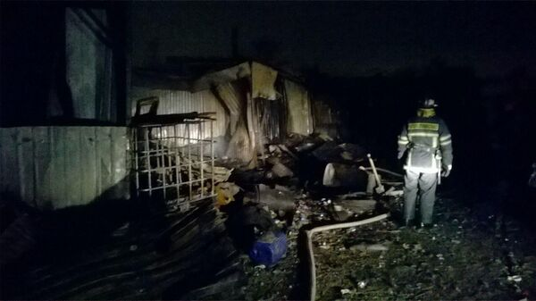 Пожар в хосписе в Красногорске