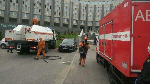 Пожар в больнице Святого Георгия в Санкт-Петербурге