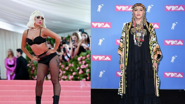 Американские исполнительницы Lady Gaga и Madonna