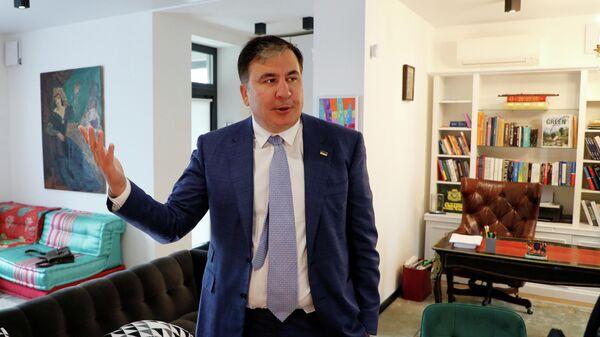 Михаил Саакашвили после интервью в своем доме