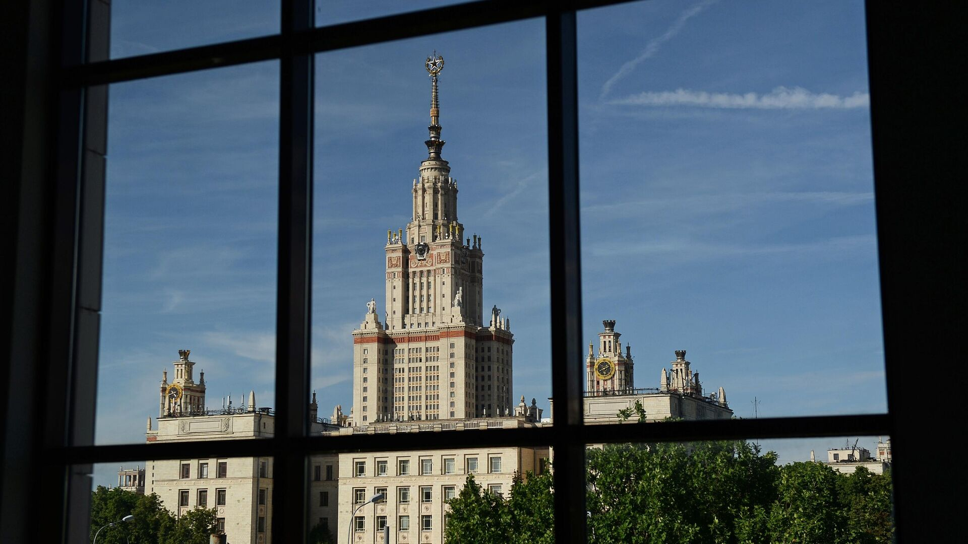 Вид на здание Московского государственного университета имени М.В. Ломоносова - РИА Новости, 1920, 03.03.2021