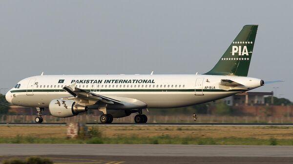 Самолет Airbus A320 авиакомпании Пакистанские авиалинии