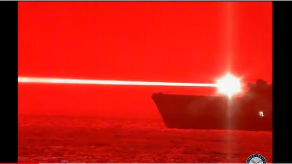 Испытание лазерного оружия Тихоокеанского флота США