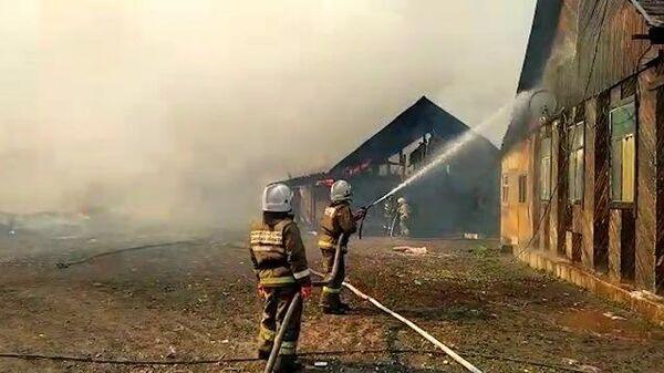 Ликвидация пожара в поселке под Самарой. Кадры МЧС