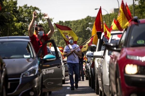 Участники антиправительственной акции в Мадриде