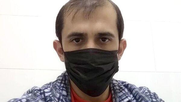 Депутат народного собрания республики Дагестан Тимур Гусаев во время изоляции в инфекционной больнице Махачкалы
