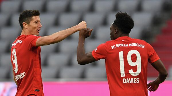 Футболисты мюнхенской Баварии