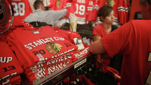 Магазин хоккейного клуба Чикаго Блэкхокс