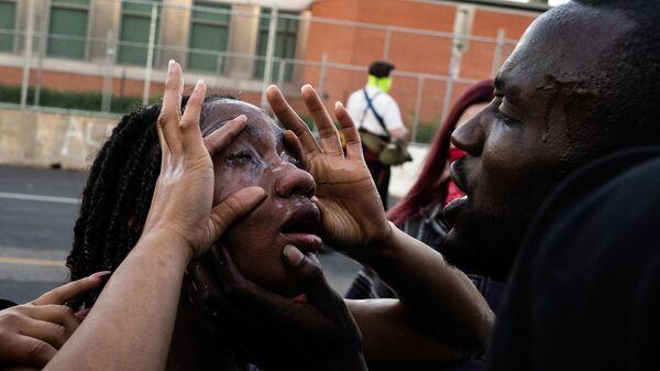 Потерпевшая во время протестов в Миннеаполисе
