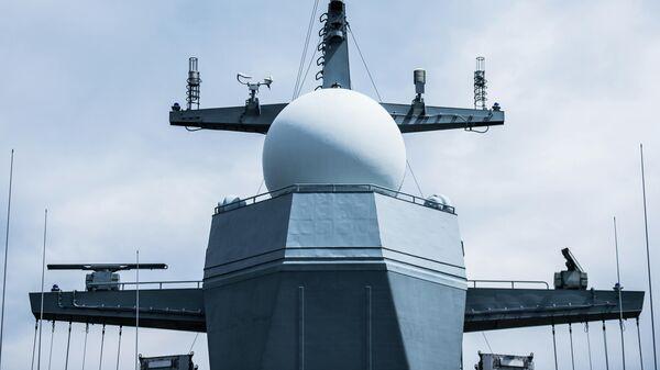 Антенные посты на корвете Тихоокеанского флота Совершенный