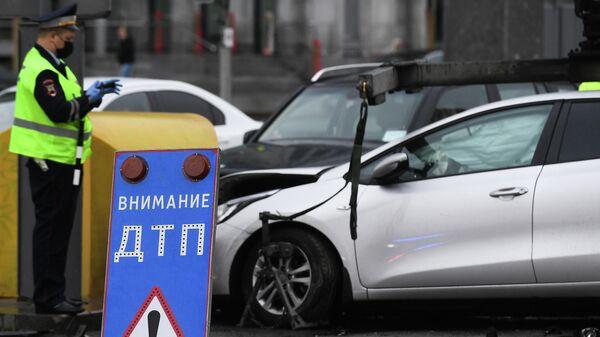 На 24-м километре МКАД в Москве произошло ДТП, погиб человек