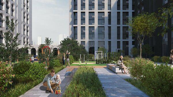 Проект дома по программе реновации на Бауманской улице в Москве
