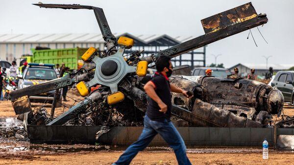 Крушение вертолета Ми-17 в Индонезии. 6 июня 2020