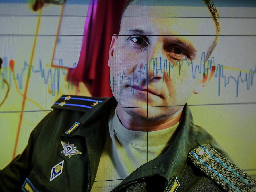 Член экипажа исследовательского судна Балтийского флота Адмирал Владимирский подполковник Сергей Чернышев