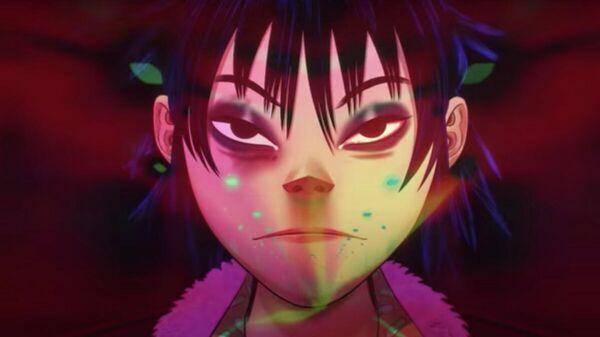 Кадр из клипа на песню Friday 13th ft. Octavian группы Gorillaz