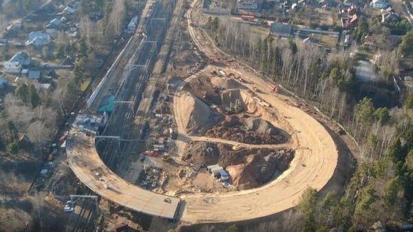 Готовность путепровода в подмосковном Дедовске составляет 75%