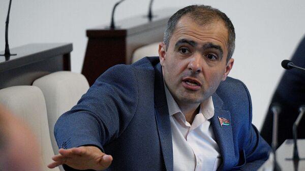 Депутат Олег Гайдукевич на заседании Палаты представителей парламента Белоруссии