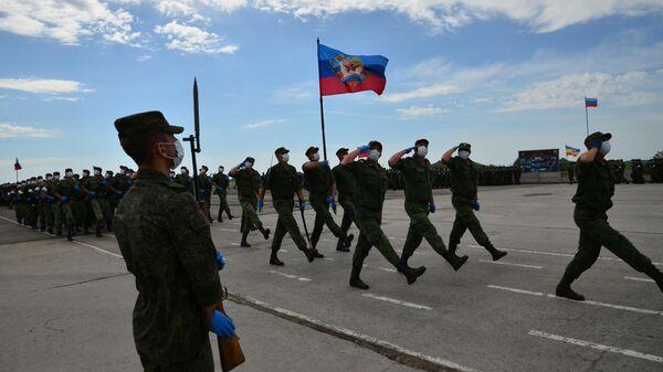 Подготовка к Параду Победы в ЛНР