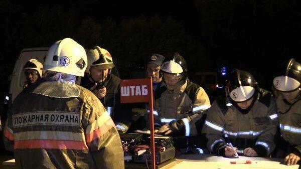 Тушение пожара на газораспределительной станции в Казани