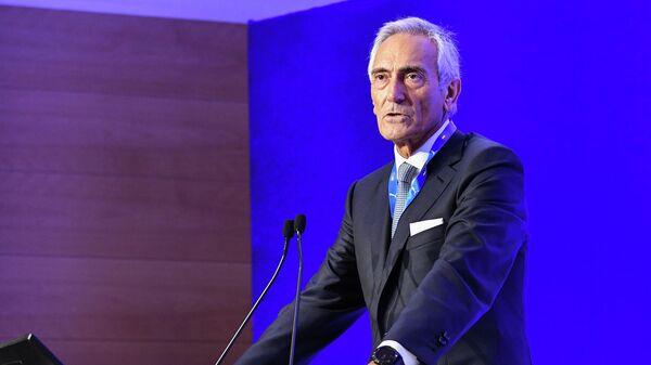 Президент Федерации футбола Италии (FIGC) Габриэле Гравина