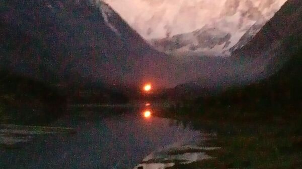 Пожар в часовне в честь Михаила Архангела у подножия горы Белуха